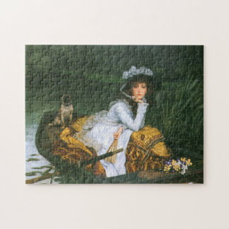 Tissot: Young Lady in a Boat Jigsaw Puzzles