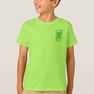 Tissue Donation Awareness Green Ribbon Angel Tee