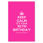 """[Crown] keep calm it's your 30th birthday  Tissue Paper 10"""" X 15"""" Tissue Paper"""