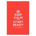 "[Crown] keep calm and start brady  Tissue Paper 10"" X 15"" Tissue Paper"