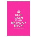 """[Crown] keep calm it's my birthday bitch!  Tissue Paper 10"""" X 15"""" Tissue Paper"""