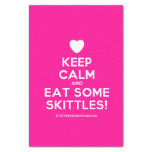"""[Love heart] keep calm and eat some skittles!  Tissue Paper 10"""" X 15"""" Tissue Paper"""