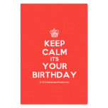 """[Cupcake] keep calm its your birthday  Tissue Paper 10"""" X 15"""" Tissue Paper"""