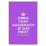 """[Crown] dinna fash sassenach je suis prest  Tissue Paper 10"""" X 15"""" Tissue Paper"""