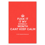 "[Crown] fuck it it my bornday month cant keep calm  Tissue Paper 10"" X 15"" Tissue Paper"