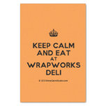 "[Crown] keep calm and eat at wrapworks deli  Tissue Paper 10"" X 15"" Tissue Paper"