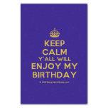 "[Crown] keep calm y'all will enjoy my birthday  Tissue Paper 10"" X 15"" Tissue Paper"