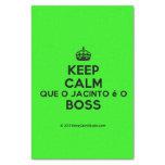 "[Crown] keep calm que o jacinto é o boss  Tissue Paper 10"" X 15"" Tissue Paper"