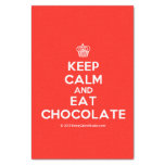 """[Cupcake] keep calm and eat chocolate  Tissue Paper 10"""" X 15"""" Tissue Paper"""
