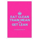 "[Crown] eat clean train mean and get lean  Tissue Paper 10"" X 15"" Tissue Paper"