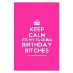 """[Crown] keep calm its my fucking birthday bitches  Tissue Paper 10"""" X 15"""" Tissue Paper"""