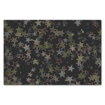 Christmas Themed Tissue paper Christmas star army green black peach