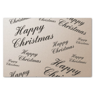 """Tissue Paper festive decorated with Christmas text 10"""" X 15"""" Tissue Paper"""
