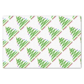 """TISSUE PAPER - HAPPY HOLIDAYS CHRISTMAS TREE 10"""" X 15"""" TISSUE PAPER"""