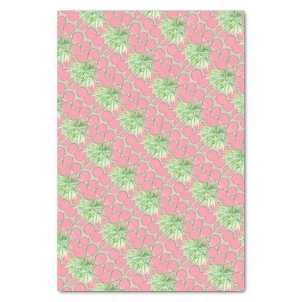 Tissue Paper- Pink Polka Dot Palm Tree Tissue Paper