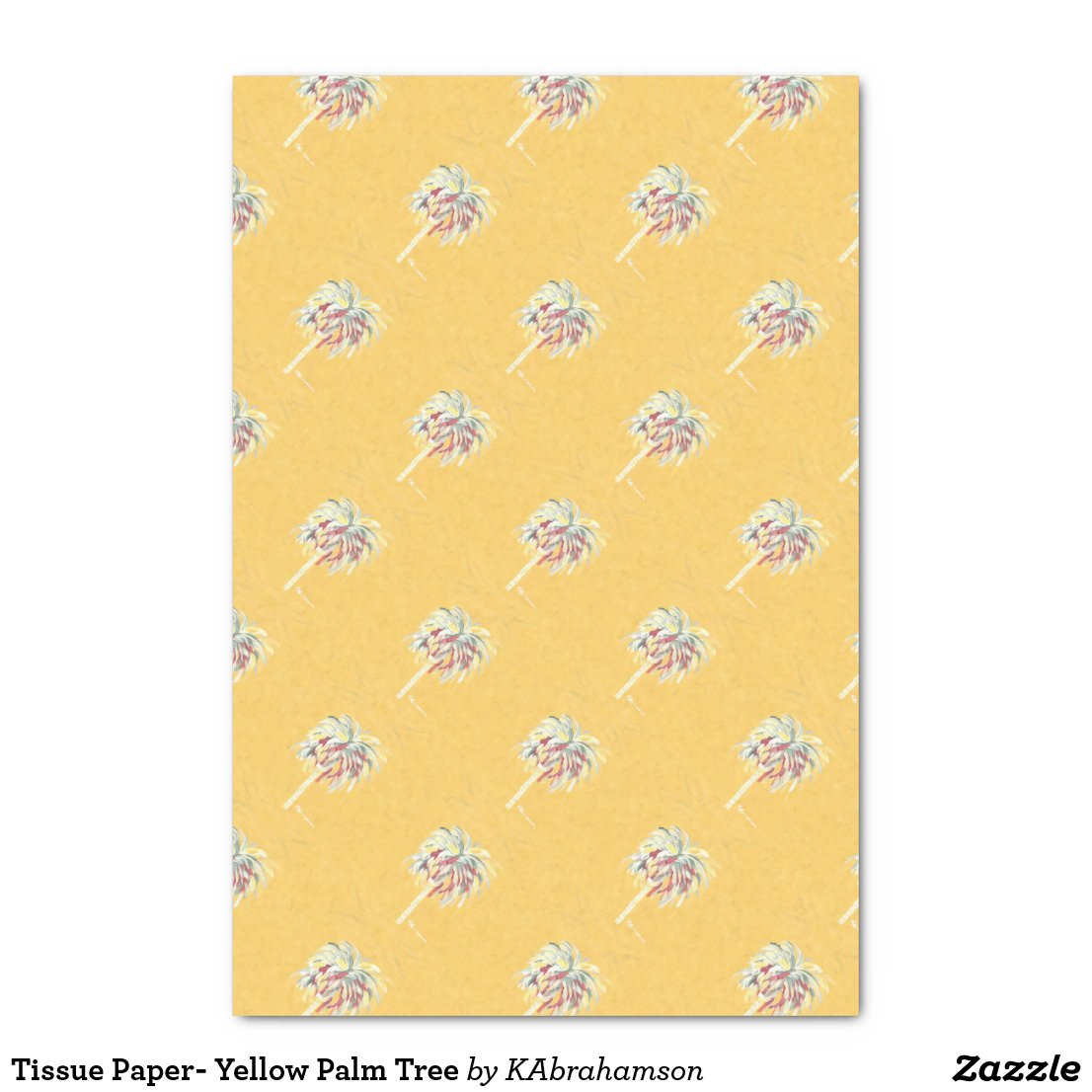 Tissue Paper- Yellow Palm Tree Tissue Paper