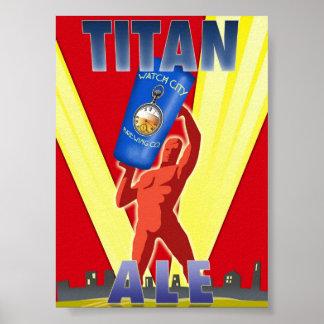 Titan Ale Art Deco Beer Poster