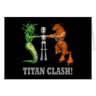 Titan Clash Greeting Card