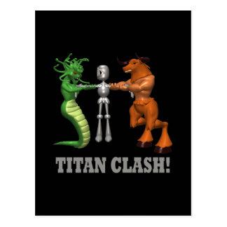 Titan Clash Postcard