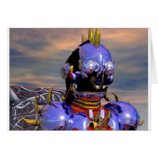 TITAN CYBORG PORTRAIT Blue Science Fiction,Scifi Card