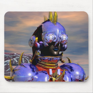 TITAN CYBORG PORTRAIT Blue Science Fiction,Scifi Mouse Pad