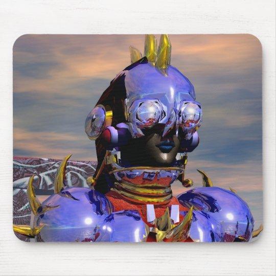 TITAN CYBORG PORTRAIT Blue Science Fiction,Scifi Mouse Pad