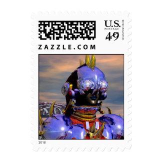 TITAN CYBORG PORTRAIT Blue Science Fiction,Scifi Postage