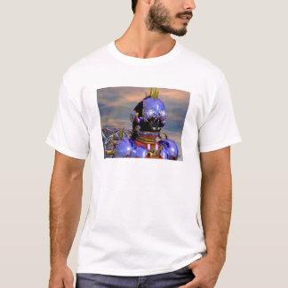 TITAN CYBORG PORTRAIT Blue Science Fiction,Scifi T-Shirt