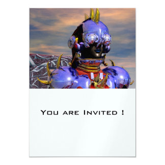 TITAN  CYBORG PORTRAIT 5X7 PAPER INVITATION CARD