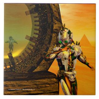 TITÁN del CYBORG, Scifi de la ciencia ficción de Azulejo Cuadrado Grande