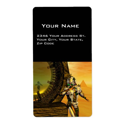 TITAN IN HYPERION SHIPPING LABEL