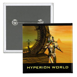 TITAN IN THE DESERT OF HYPERION 2 INCH SQUARE BUTTON