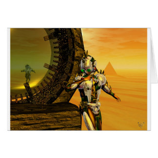 TITAN IN THE DESERT OF HYPERION CARD