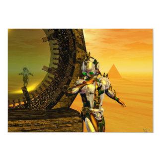 TITAN IN THE DESERT OF HYPERION 5X7 PAPER INVITATION CARD