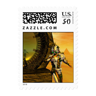 TITAN IN THE DESERT OF HYPERION POSTAGE