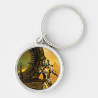 TITAN IN THE DESERT OF HYPERION Silver-Colored ROUND KEYCHAIN