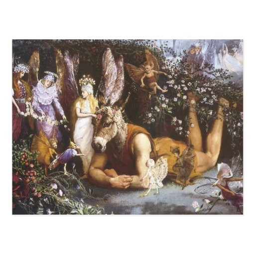 Titania and Bottom,Midsummer Night's Dream Postcards
