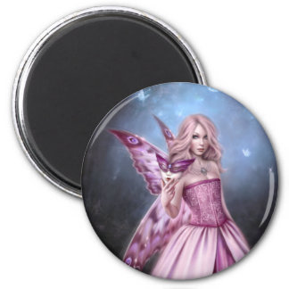 Titania Butterfly Fairy Queen Round Magnet