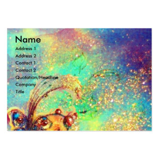 TITANIA / MAGIC BUTTERFLY PLANT IN GOLD SPARKLES BUSINESS CARDS