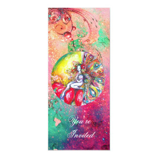 TITANIA ,pink yellow blue green red sparkles Card