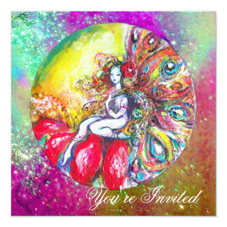 TITANIA , pink yellow blue purple red sparkles Card