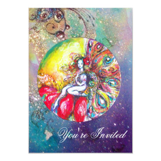 TITANIA ,pink yellow blue red sparkles Card