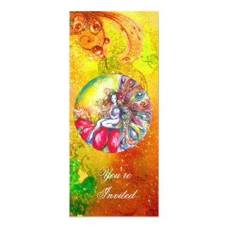 TITANIA ,pink yellow brown blue green red sparkles Card