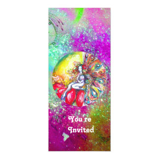 TITANIA ,pink yellow purple blue green red sparkle Card