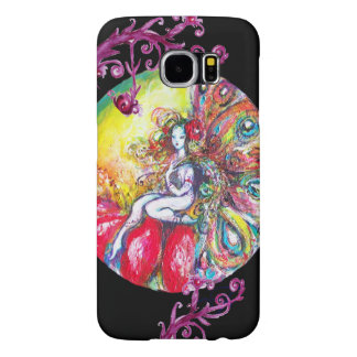 TITANIA SITTING ON A RED FLOWER Pink Floral Swirls Samsung Galaxy S6 Case
