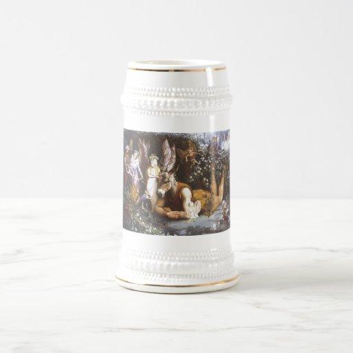 Titania y parte inferior, el sueño de la noche de  taza de café