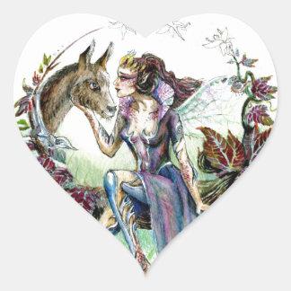 Titania y parte inferior pegatina en forma de corazón