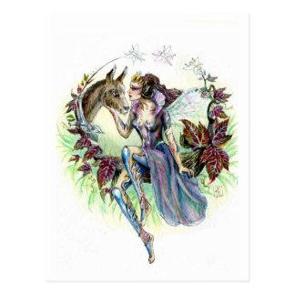 Titania y parte inferior tarjeta postal