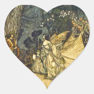 Titania y pegatina de hadas del boda de Oberon