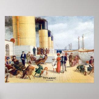 Titanic 100th Anniversary color Boat Deck Image Poster
